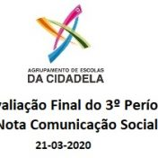 Avaliação Final do 3º Período – Nota Comunicação Social